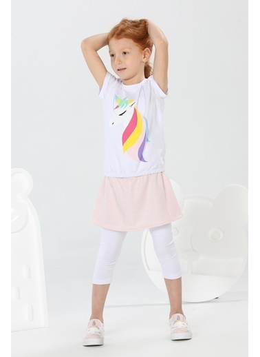 Lupiakids Unique Kız Taytlı Etek Takım Renkli